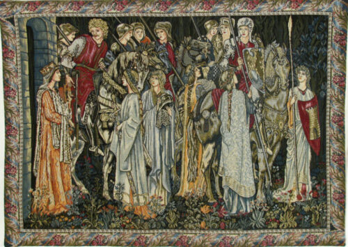 Saint Graal Knights Quest tapestry - Belgian wallhanging