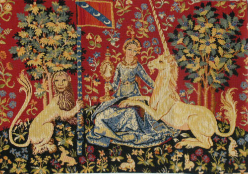 Sight small tapestry - Tenture de la Dame à la licorne wall tapestries