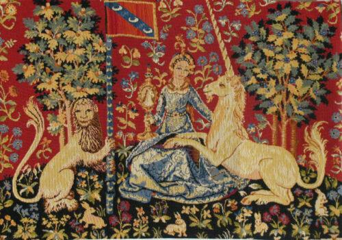 Sight small tapestry - Tenture de la Dame à la licorne wall tapestries
