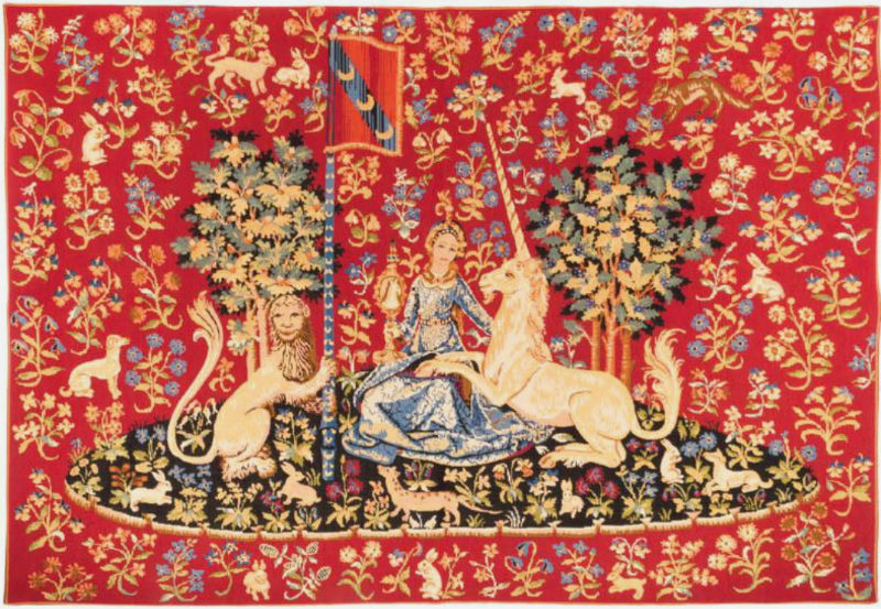 Sight tapestry wallhanging - Cluny Museum in Paris