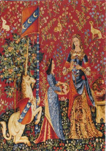 Smell small tapestry - Tenture de la Dame à la licorne tapestries