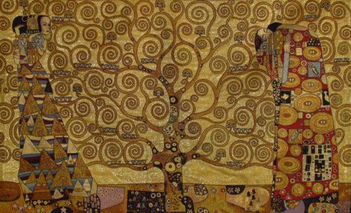 Gustav Klimt Stoclet Frieze tapestry - Italian wall-hanging