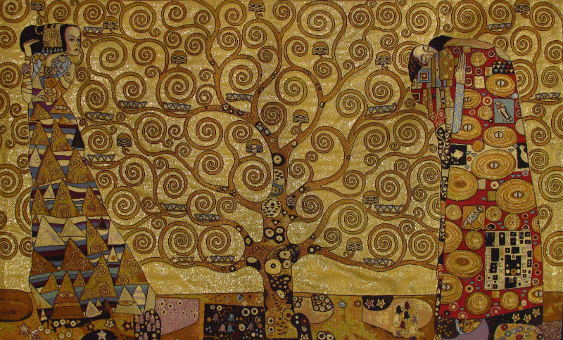 Gustav Klimt Tapestries The Kiss Tapestry Wall Hanging