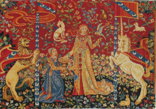 Taste small tapestry - Lady with the Unicorn tapestries