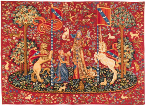 Taste tapestry wallhanging - Musée national du Moyen Âge