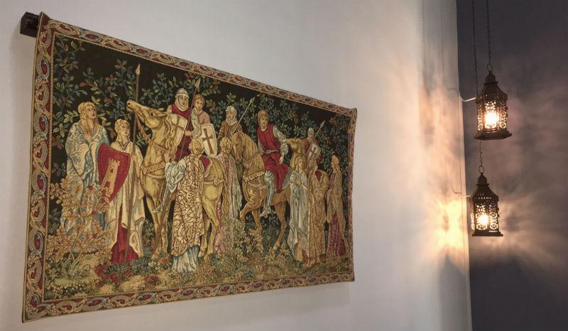 The Crusaders Depart tapestry hanging in the UAE