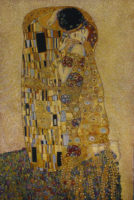 Gustav Klimt Kiss tapestry - Art Nouveau Italian wall-hanging