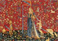 Touch small tapestry - Tenture de la Dame à la licorne tapestries