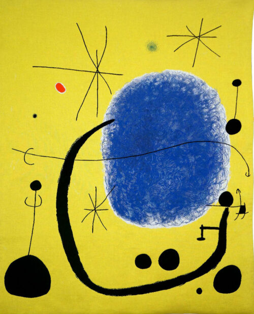 The Gold of the Azure tapestry - L'Or de l'Azure - Joan Miro