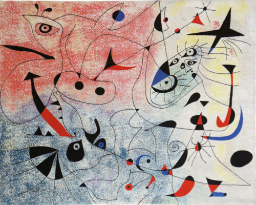 Morning Star by Miro - L'Etoile Matinale wall tapestry