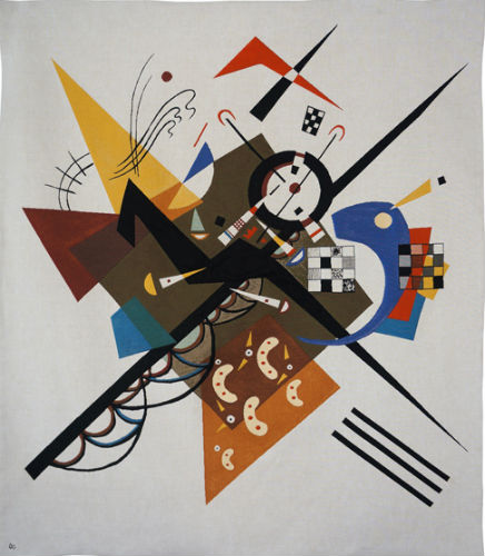 Kandinsky On White II - Auf Weiss II - French wall tapestry