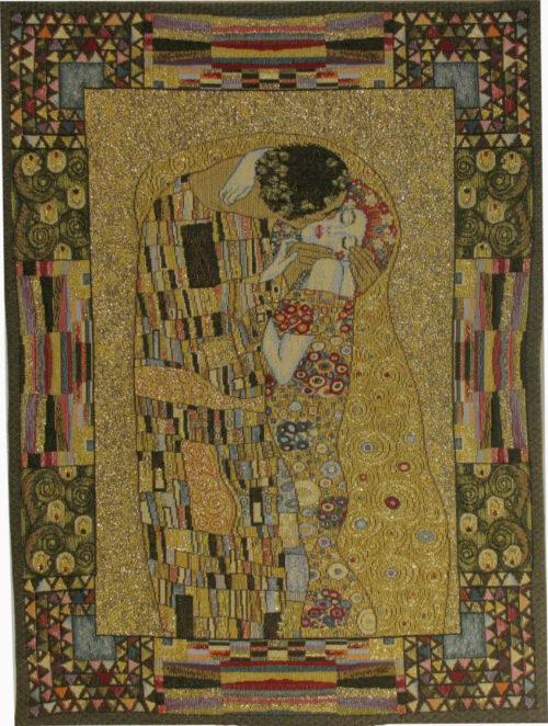 The Kiss small tapestry - Gustav Klimt Art Nouveau design