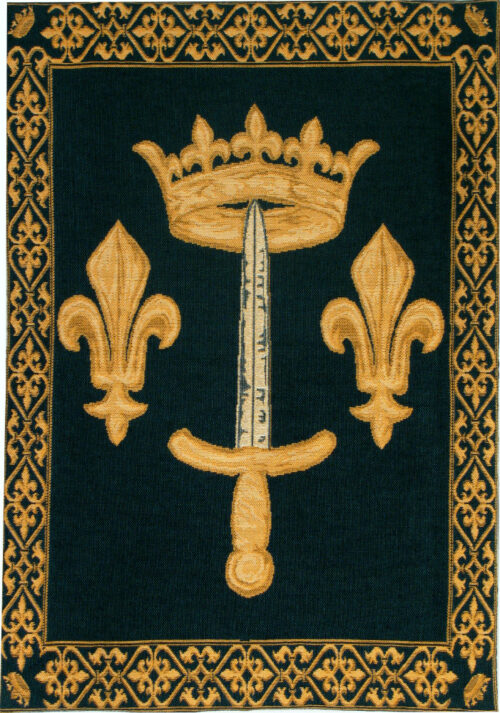 Joan of Arc Coat of Arms - Fleur de Lys tapestry wallhanging