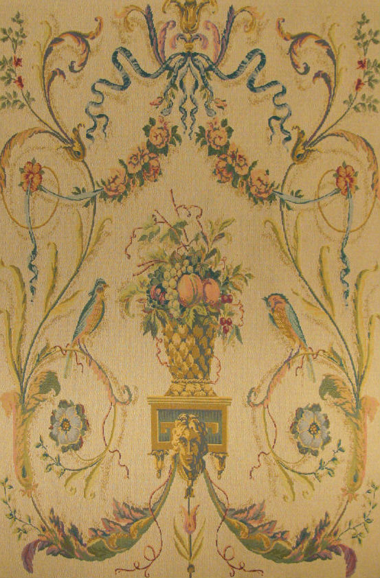 Cream Birds tapestry with no border - elegant wall-hanging