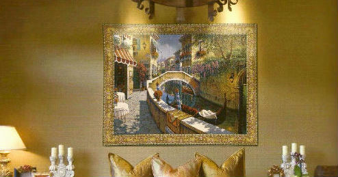 Landscapes wall tapestries - verdures - Boucher tapestry art