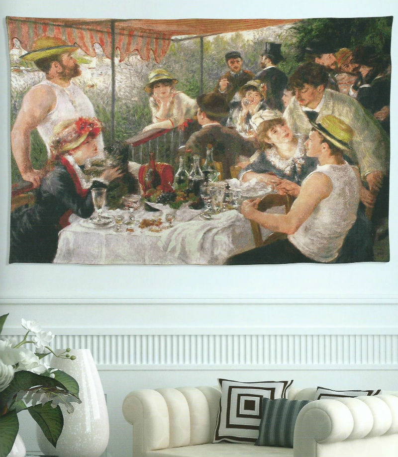 luncheon of the boating party renoir tapestry wallhanging. Black Bedroom Furniture Sets. Home Design Ideas