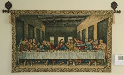Religious wall tapestries - Last Supper tapestry wallhangings