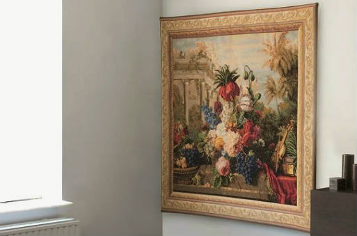 Still life tapestries - woven floral at tapestry wallhangings
