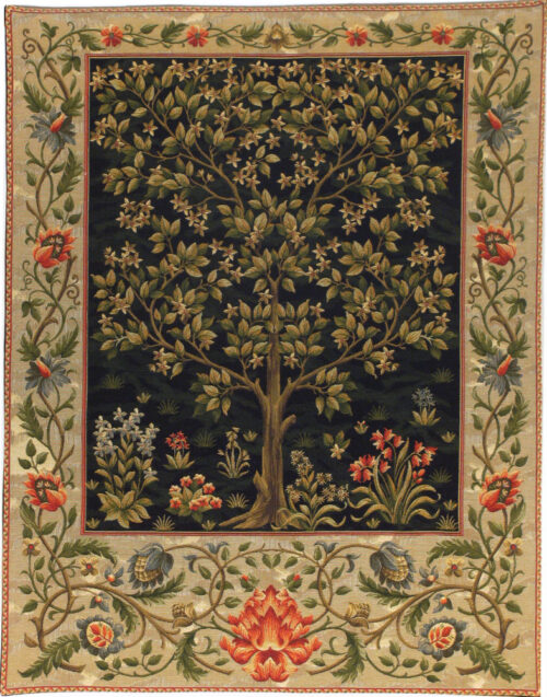 William Morris Black Tree of Life - Arts and Crafts wall tapestry