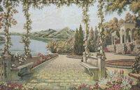 Lake Como wall tapestry - Italian Villa d'Este tapestries