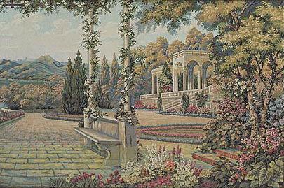 Lake Como Terrace tapestry wall-hanging - Italian tapestries
