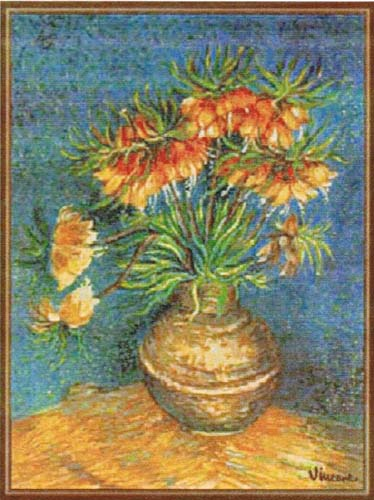 Van Gogh Imperial Crown Fritillaria - Van Gogh wall tapestries