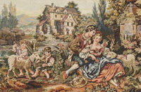 Francois Boucher Old Mill tapestry detail - Louis XV tapestries