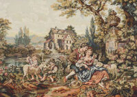 Francois Boucher Old Mill without border - Noble Pastorale tapestry