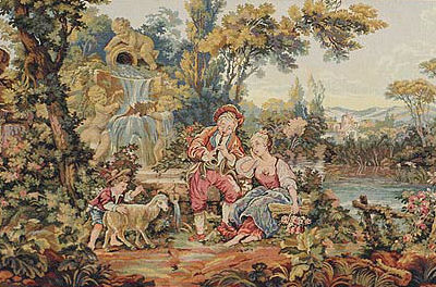 Musical Shepherd tapestry - Francois Boucher wall tapestries