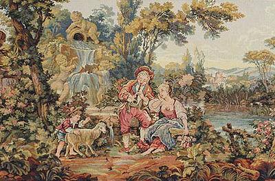 Musical Shepherd tapestry - Francois Boucher wall tapestries