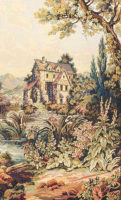 The Old Mill vertical tapestry - Beauvais wall tapestries