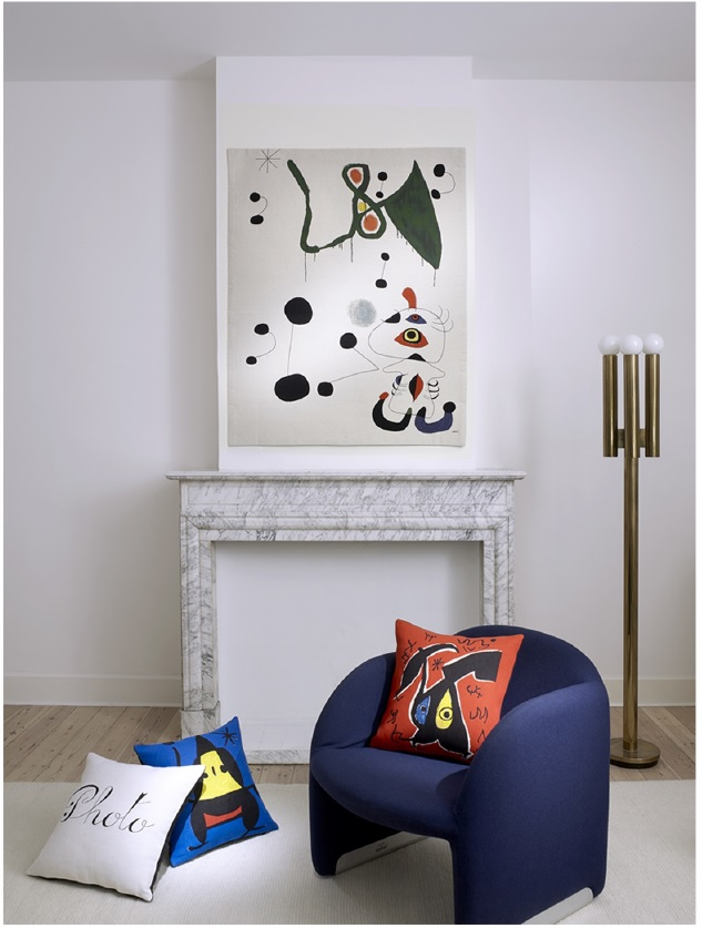 Joan Miro tapestries - Woman and Bird in the Night tapestry