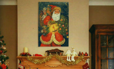 Christmas and winter tapestries - holiday, Santa Claus