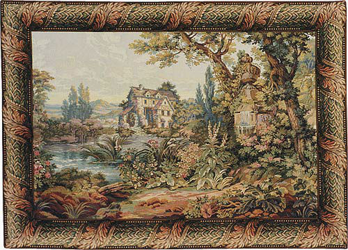 Old Mill tapestry - Francois Boucher wall-hanging tapestries