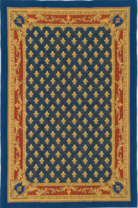 Fleur de Lys large tapestry is versatile - French throw or wall-hanging