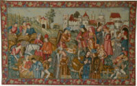 Wine Market tapestry - Marché au Vin wall tapestries