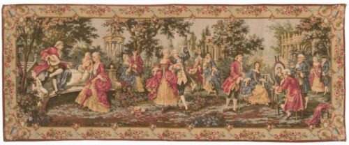 Louis XV Garden tapestry - 18th century wall tapestries