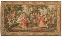 Louis XV Garden tapestry, left - Rococo style French tapestries