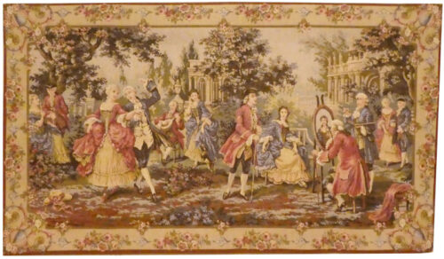 Louis XV Garden tapestry, right - Francois Boucher Rococo tapestries