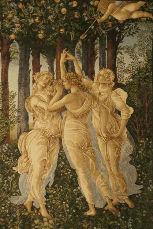 The Three Graces tapestry - Sandro Botticelli Primavera
