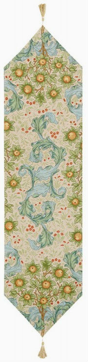 Beige Orange Tree with Acanthus Leaves table runner - floral French