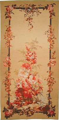 Floral Portiere tapestry - French wall-hanging on sale
