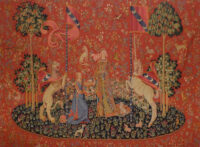 Taste wall tapestry - Musée de Cluny tapestries