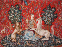 La Vue tapestry - Lady with the Unicorn Sight wall-hanging
