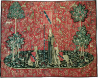 The Touch tapestry - Lady with the Unicorn tapestries