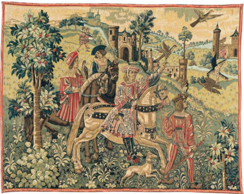 Depart de Chasse tapestry - Cluny Museum tapestries collection