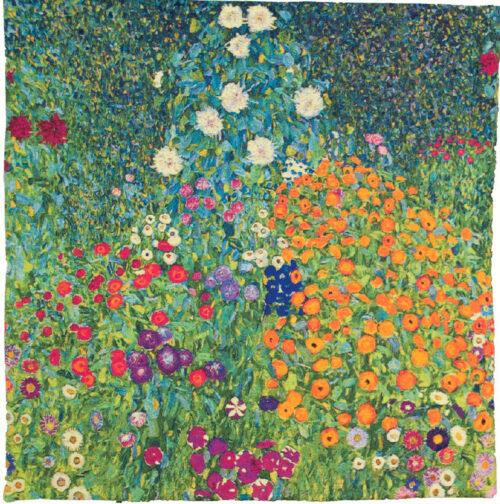Gustav Klimt Flower Garden - Art Nouveau tapestry