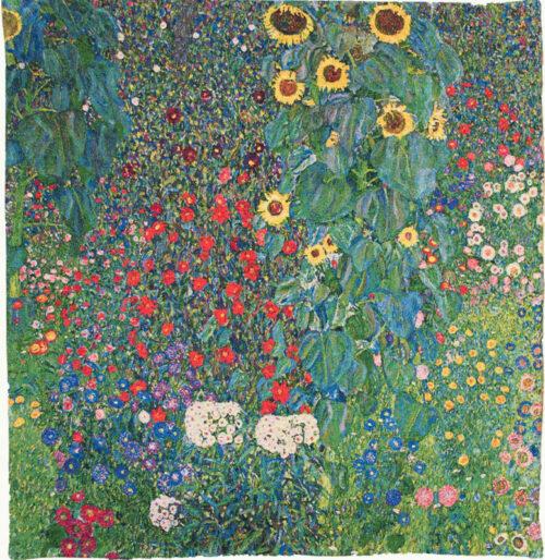 Gustav Klimt Flower Garden tapestry - Art Nouveau tapestries