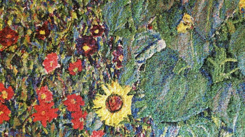 Gustav Klimt Flower Garden tapestry detail