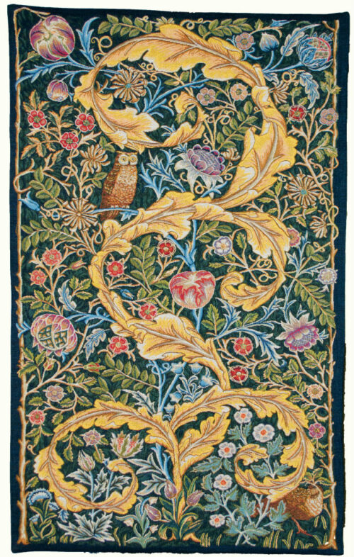 Owl and Pigeon tapestry by William Morris - Arts and Crafts portiere